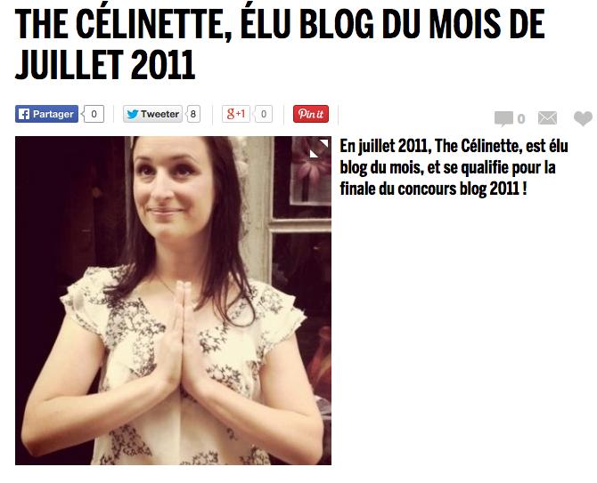 Cosmopolitan : élection du blog de l'année 2011