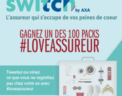 Bye bye tristesse ! AXA lance le jeu-concours #LoveAssureur