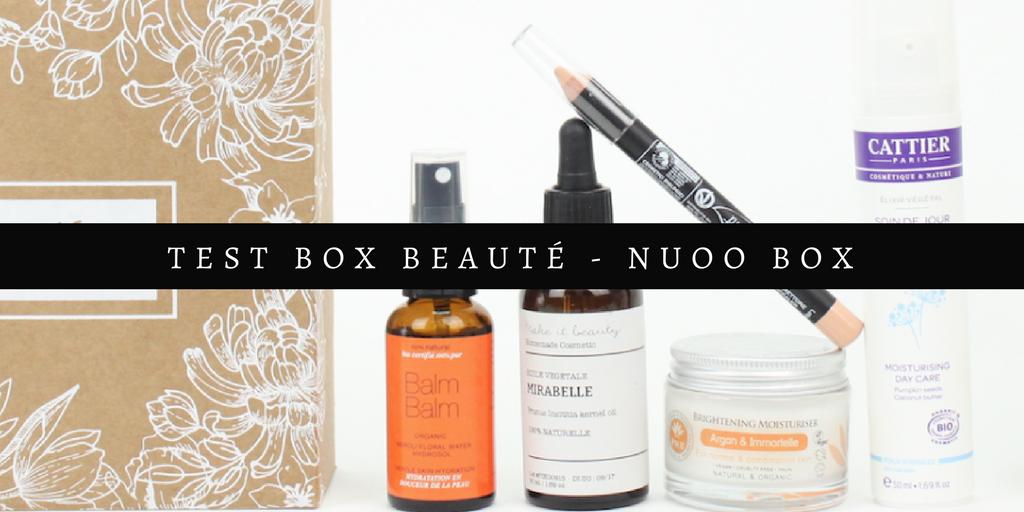 Mon avis sur la box de produits naturels : la Nuoo box