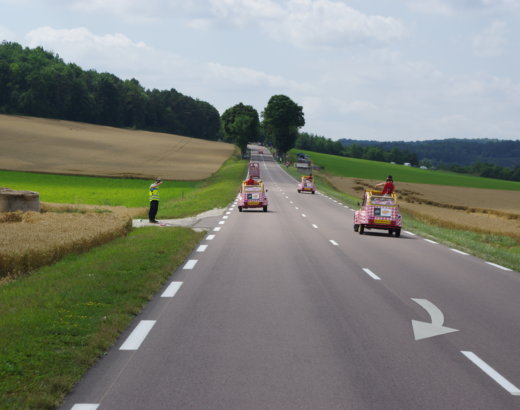 Ma découverte du Tour de France avec la caravane Cochonou