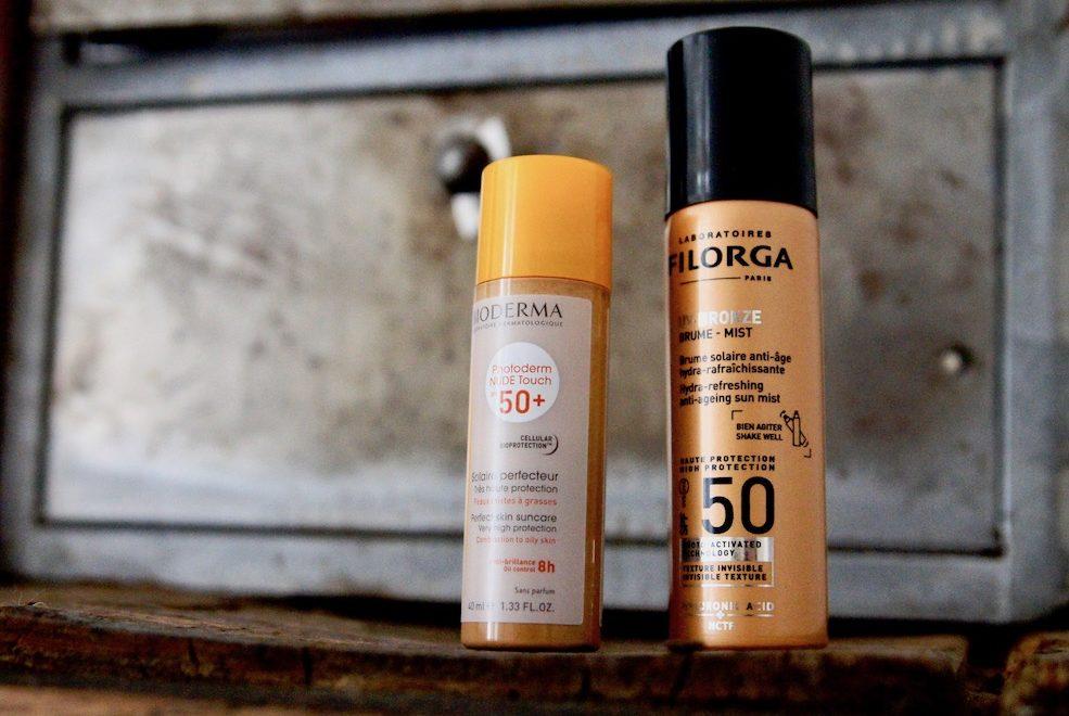 astuce solaire été Voile protecteur Bioderma photoderm SPF 50+ Filorga brume UV bronze mist haute protection indice 50